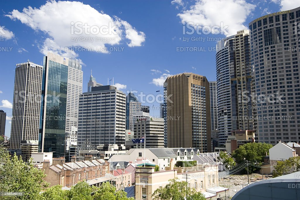 Sydney High Rises royalty-free stock photo