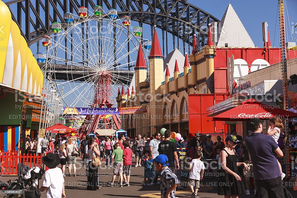 Sydney Luna Park stock photo