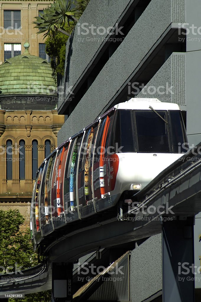 sydney monorail royalty-free stock photo
