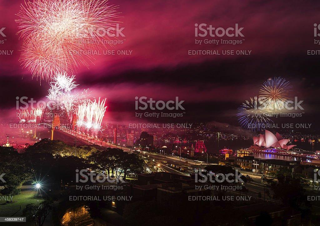 Sydney New Year's Eve Fireworks 2012 royalty-free stock photo