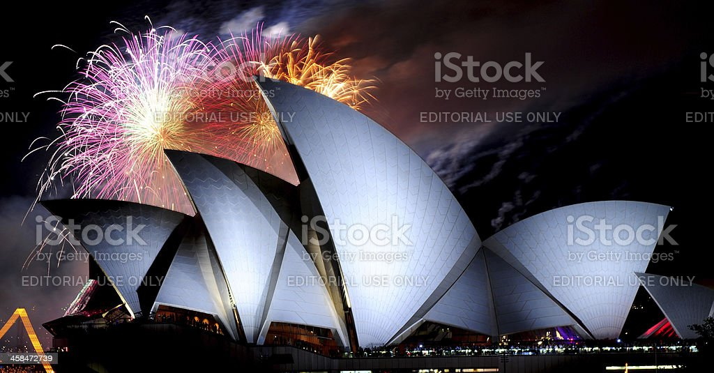 Sydney New Years Eve royalty-free stock photo