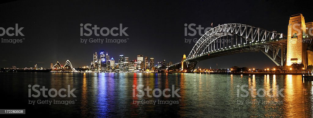 Sydney - night skyline royalty-free stock photo