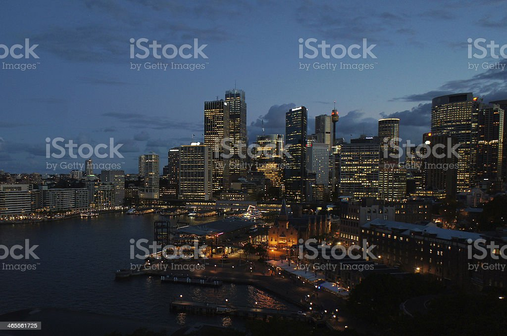Sydney Night Skyline royalty-free stock photo