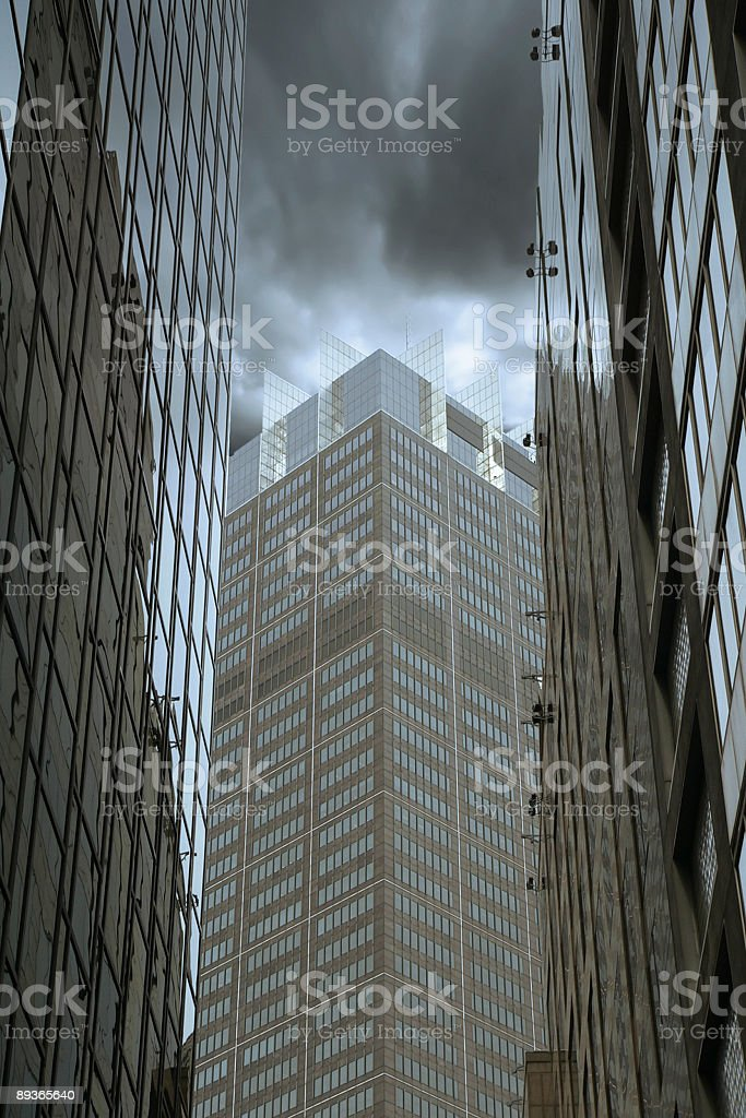 Sydney Office Building with Dramatic Storm clouds royalty-free stock photo