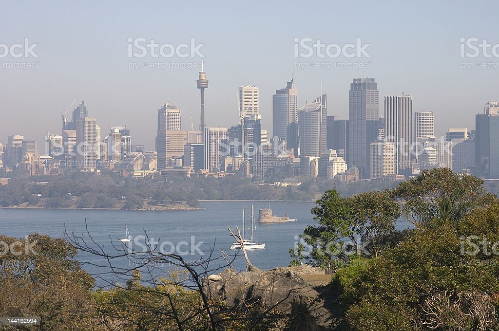 Sydney On A Smoggy Day stock photo