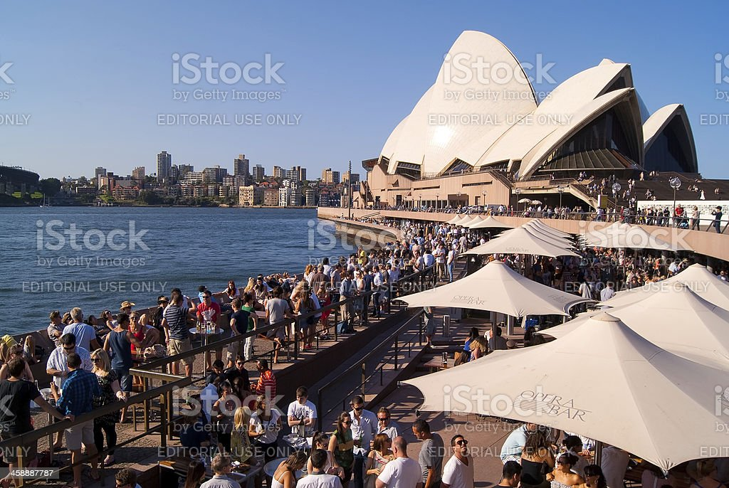Sydney Opera Bar royalty-free stock photo