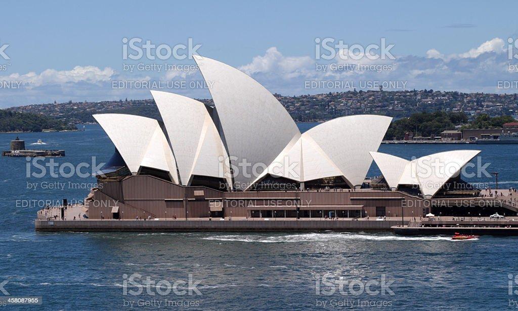 Sydney Opera House and Fort Denison royalty-free stock photo