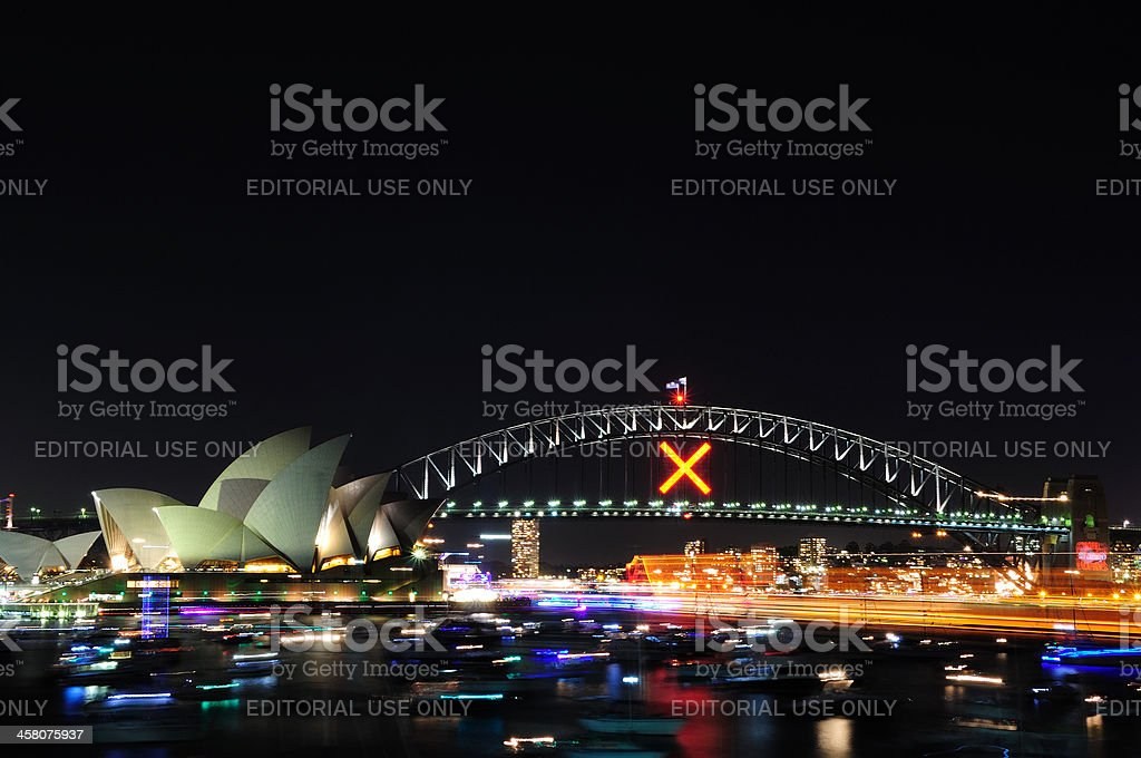Sydney Opera House and Harbour Bridge royalty-free stock photo