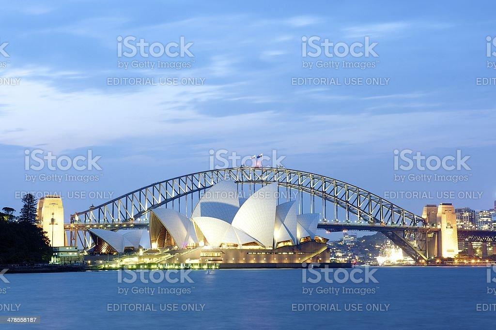Sydney Opera House and Harbour Bridge stock photo
