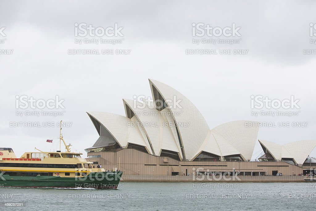 Sydney Opera House and Manly Ferry royalty-free stock photo