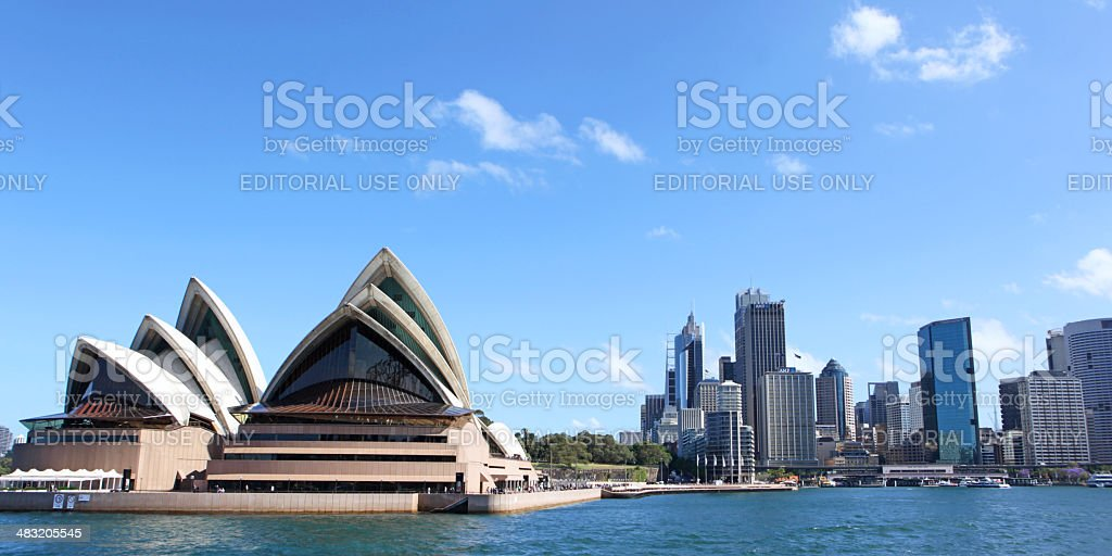 Sydney Opera House and Skyline as Seen From Sydney Harbour royalty-free stock photo