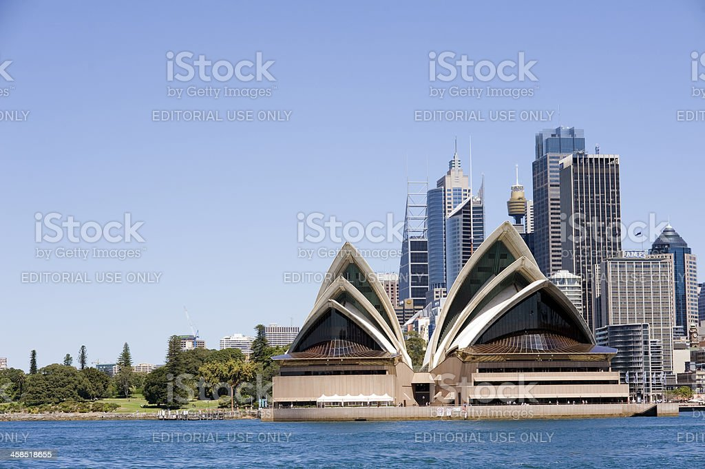 Sydney Opera House and the City Skyline in Australia royalty-free stock photo