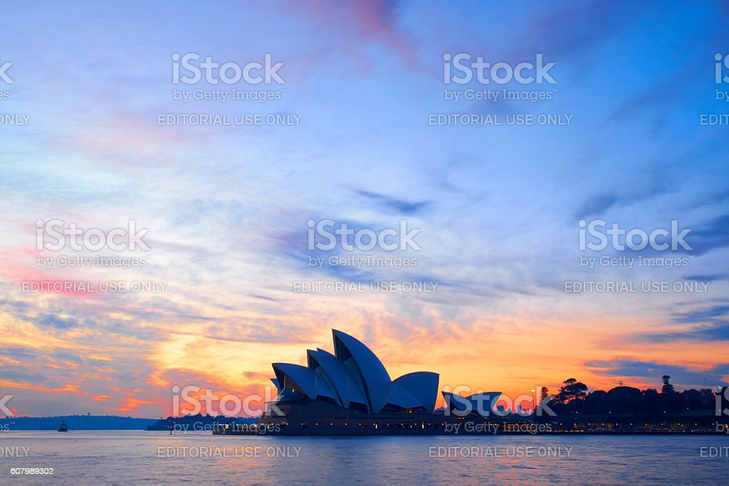 Sydney Opera House And The Dawn Sky stock photo