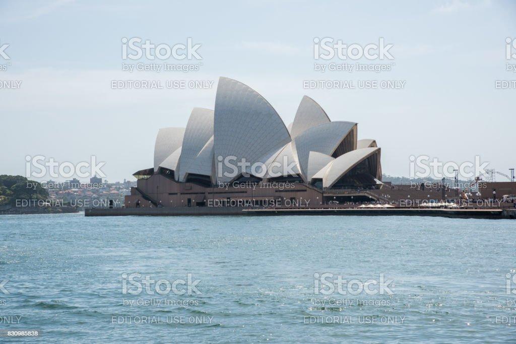 Sydney Opera House at Bennelong Point stock photo