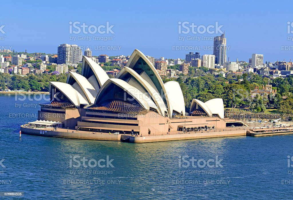 Sydney Opera House at Circular Quay, Australia stock photo