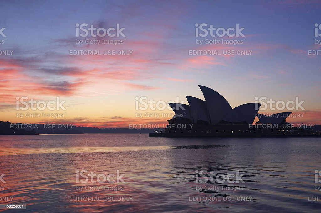 Sydney Opera House At Dawn royalty-free stock photo