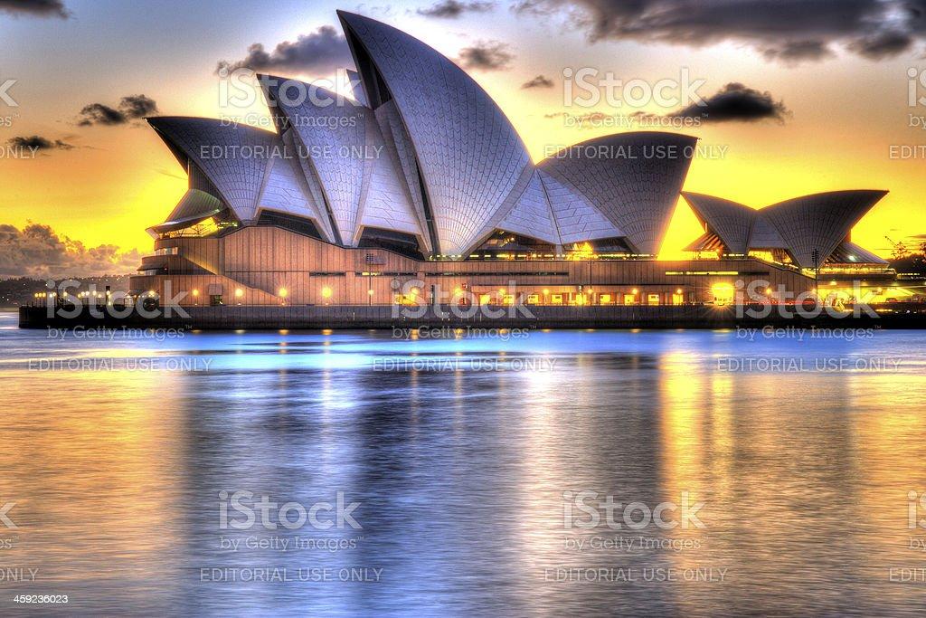 Sydney Opera House at dawn royalty-free stock photo