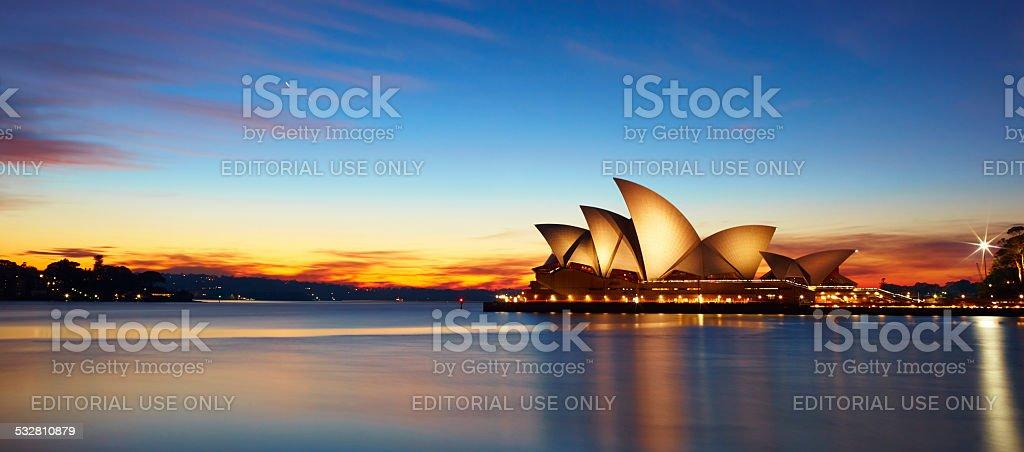 Sydney Opera House At Dawn stock photo