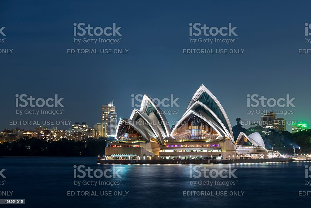 Sydney Opera House at Night stock photo