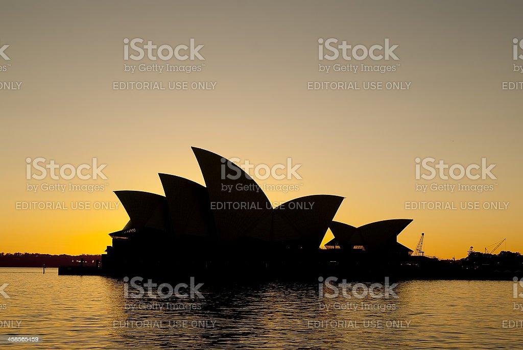 Sydney Opera House at sunrise royalty-free stock photo