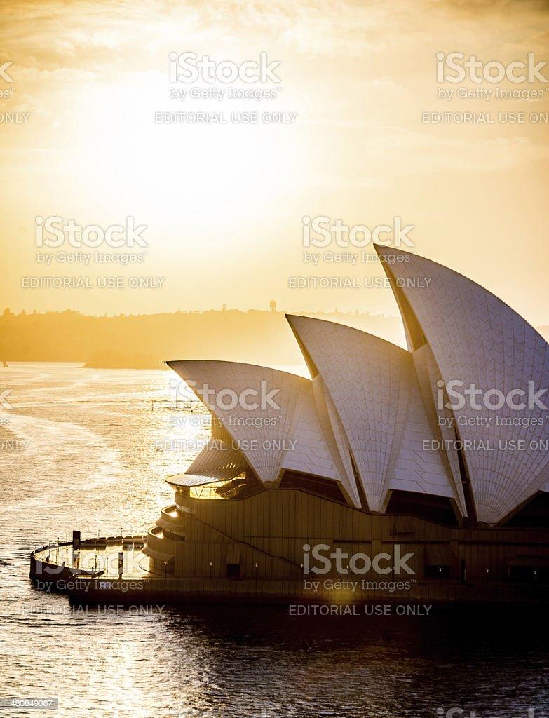 Sydney Opera House at sunrise stock photo