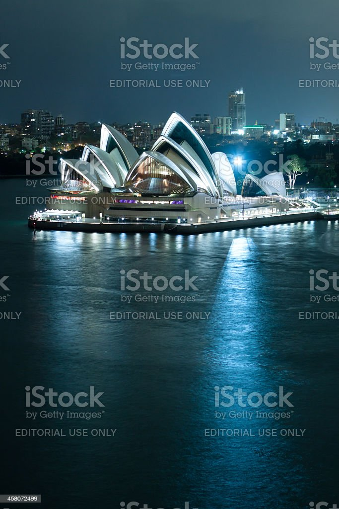 Sydney Opera House Before Dawn royalty-free stock photo