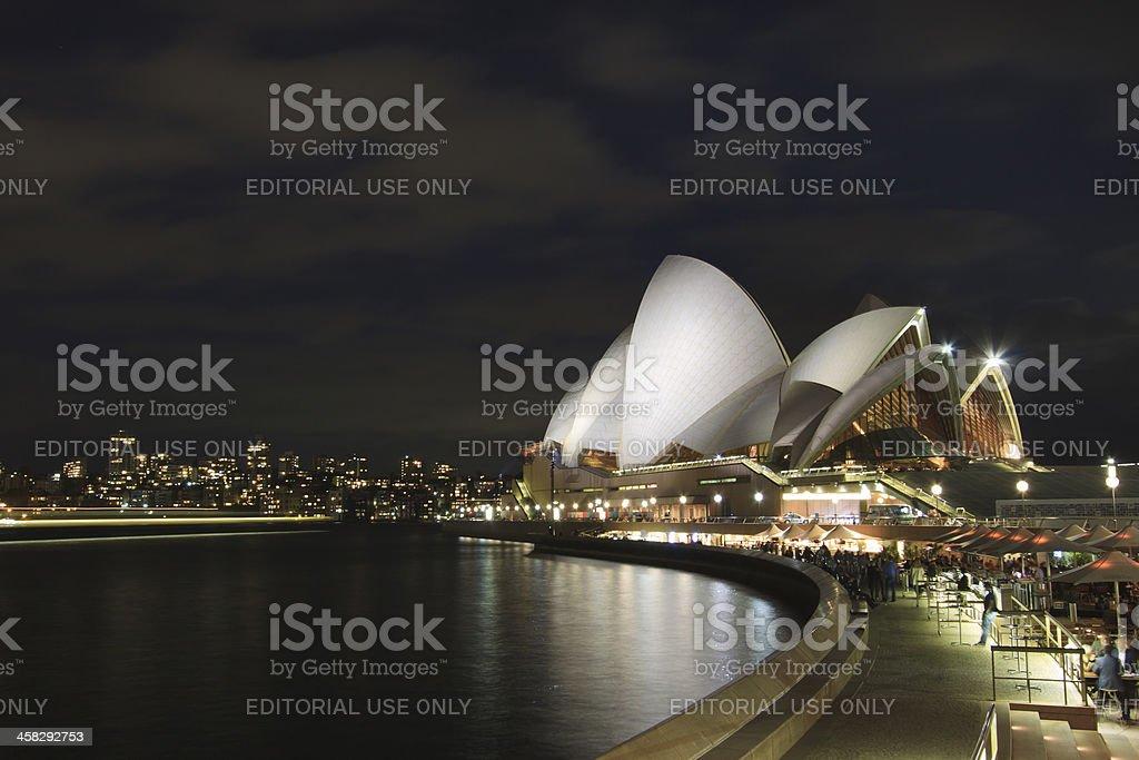 Sydney Opera House & CBD, Late Evening royalty-free stock photo