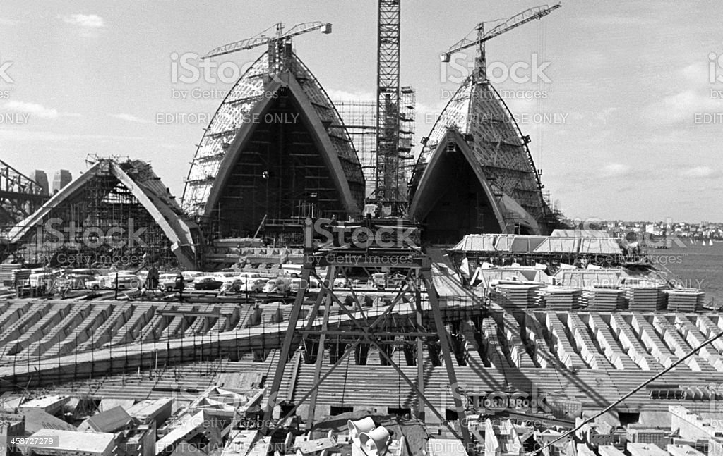 Sydney Opera House construction stock photo