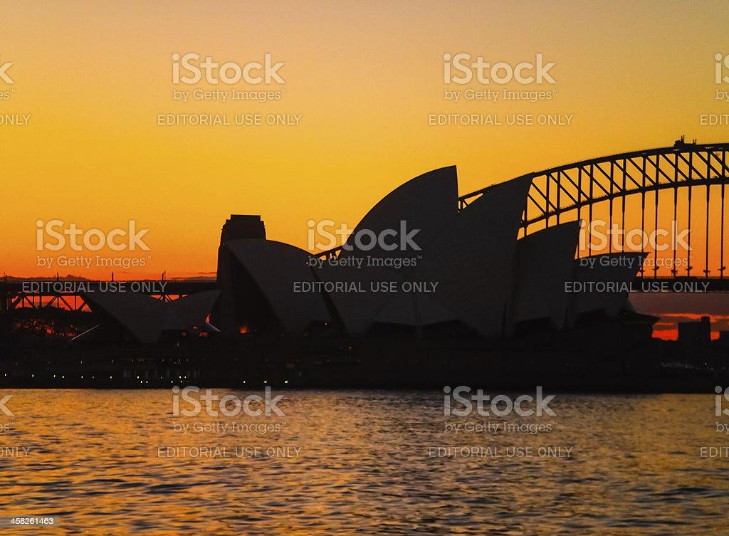 sydney opera house evening royalty-free stock photo