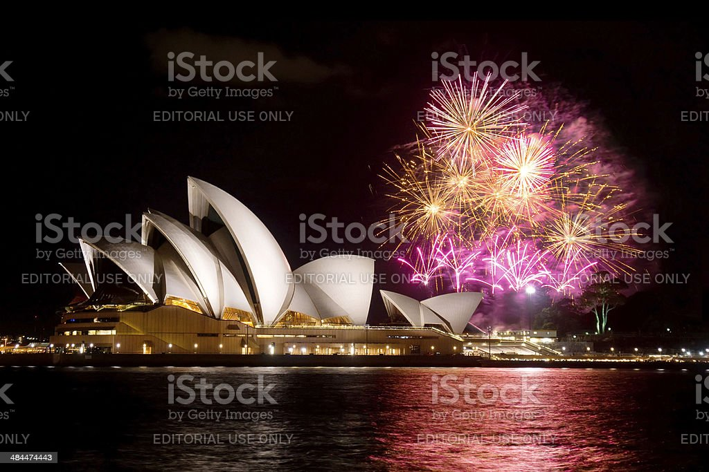 Sydney Opera House Fireworks stock photo