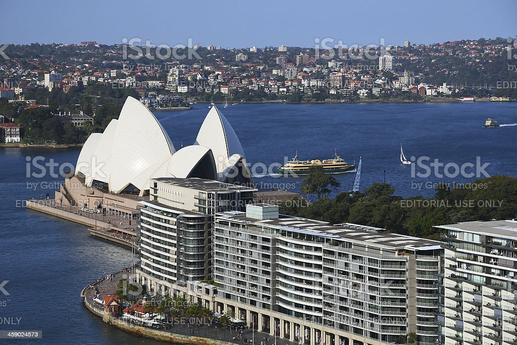 Sydney Opera House from Circular Quay royalty-free stock photo