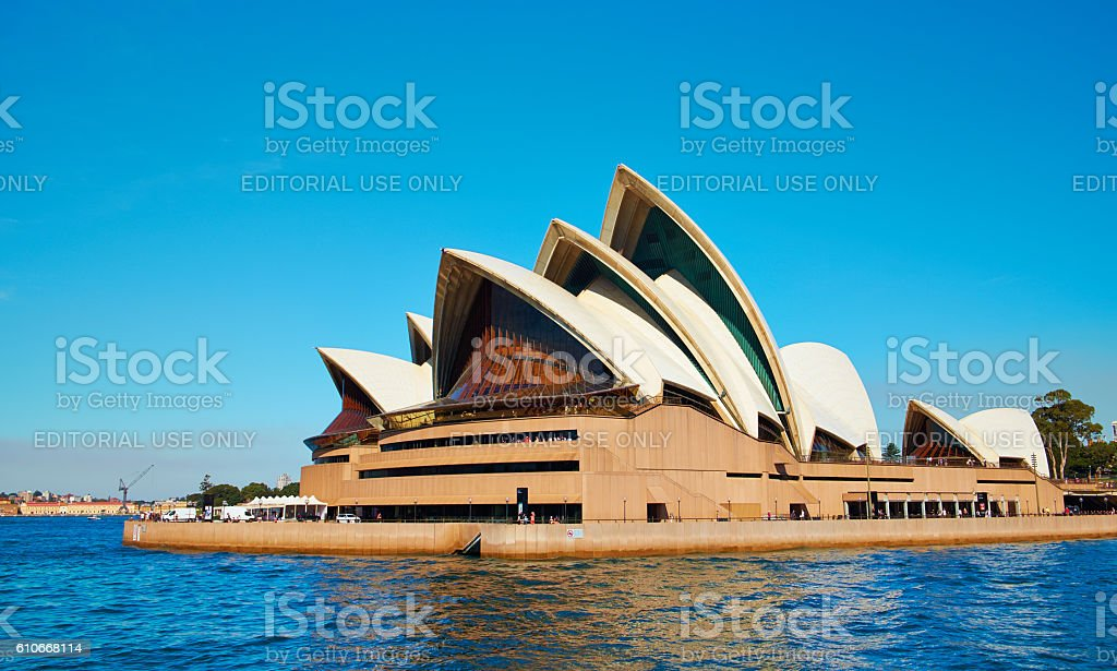 Sydney Opera House From The Manly Ferry stock photo