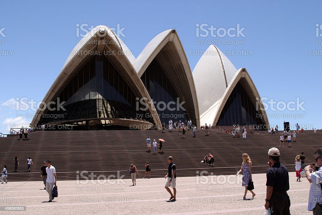 Sydney Opera House Front View royalty-free stock photo