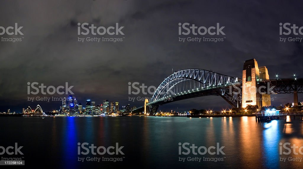 Sydney Opera House, Harbour Bridge and the CBD royalty-free stock photo