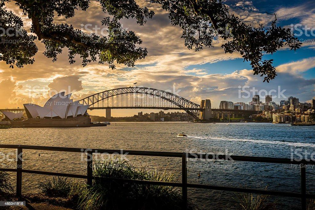 Sydney Opera House & Harbour Bridge stock photo