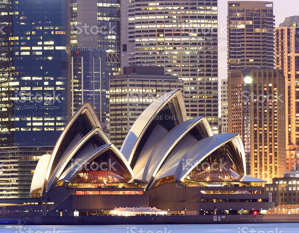 Sydney Opera House in Australia stock photo