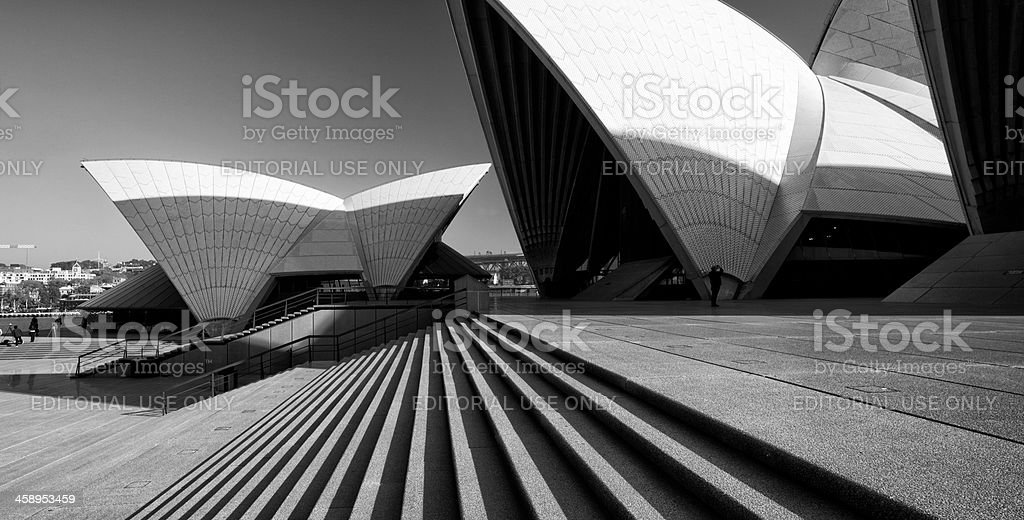 Sydney Opera House In Black & White royalty-free stock photo