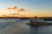 Sydney Opera House on sunrise