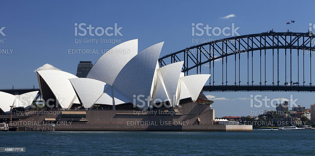 Sydney Opera House Panorama royalty-free stock photo
