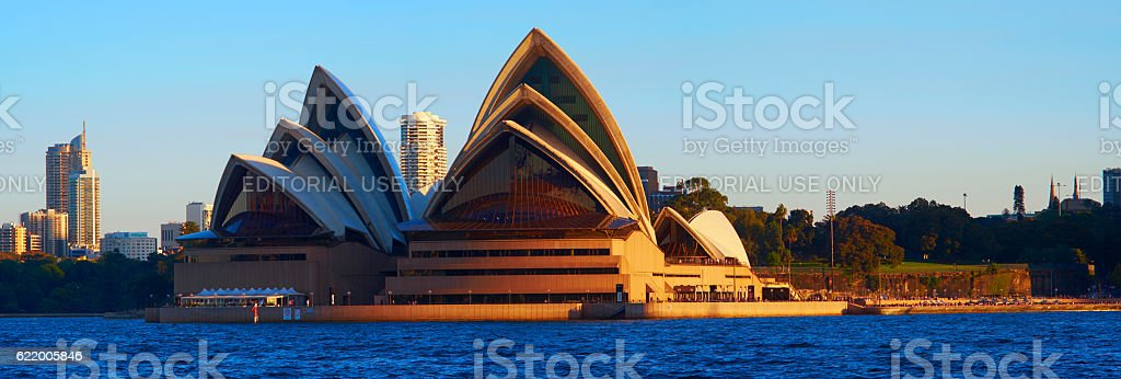 Sydney Opera House Panoramic stock photo