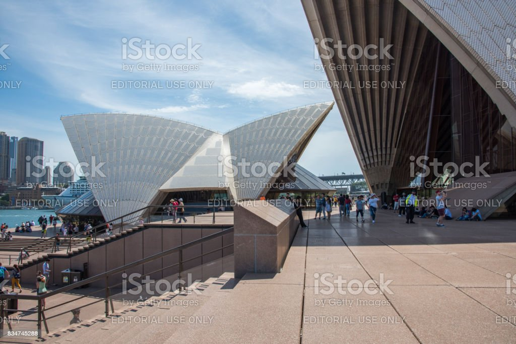 Sydney Opera house: Rooftop Design stock photo