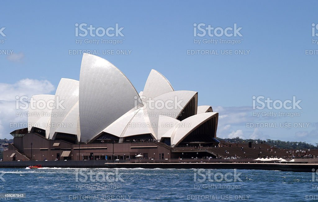 Sydney Opera House Side View royalty-free stock photo