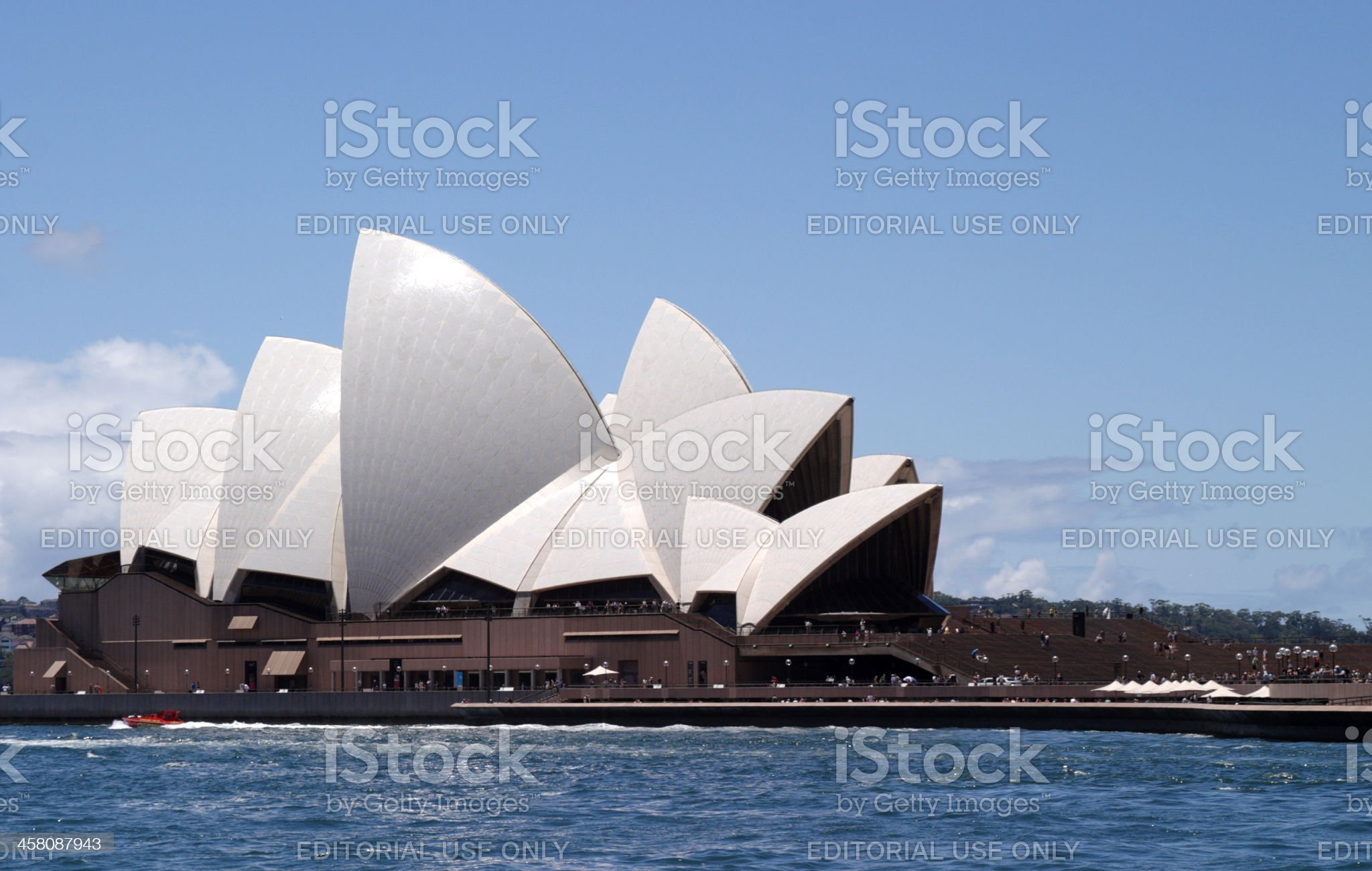 Sydney Opera House Side View royalty-free stock photo