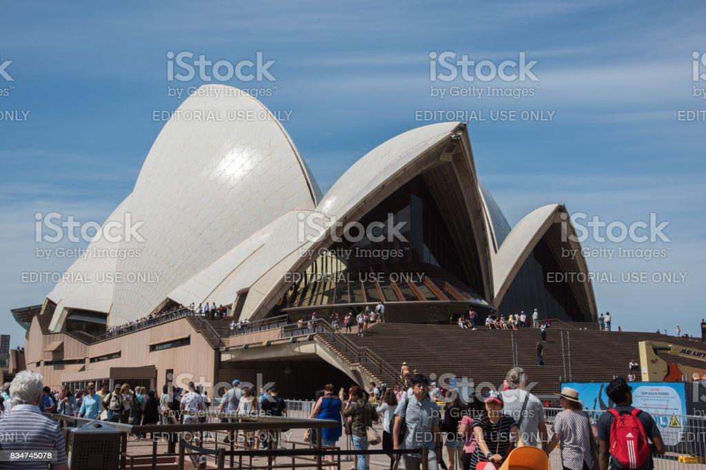 Sydney Opera House Steps stock photo