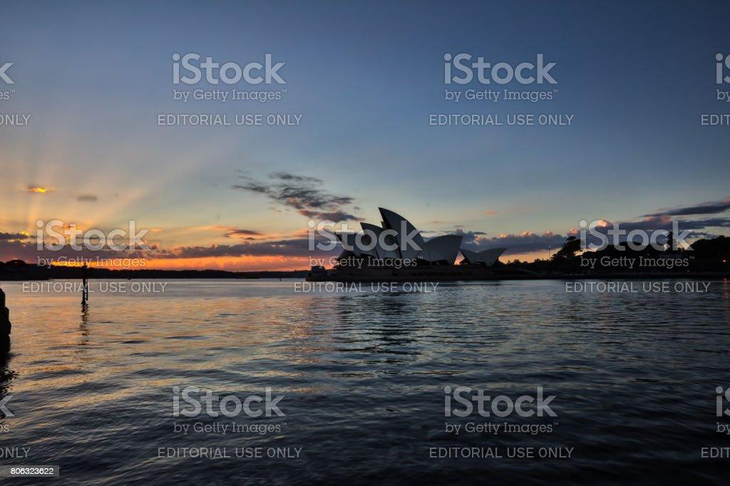 Sydney Opera House Sunrise stock photo