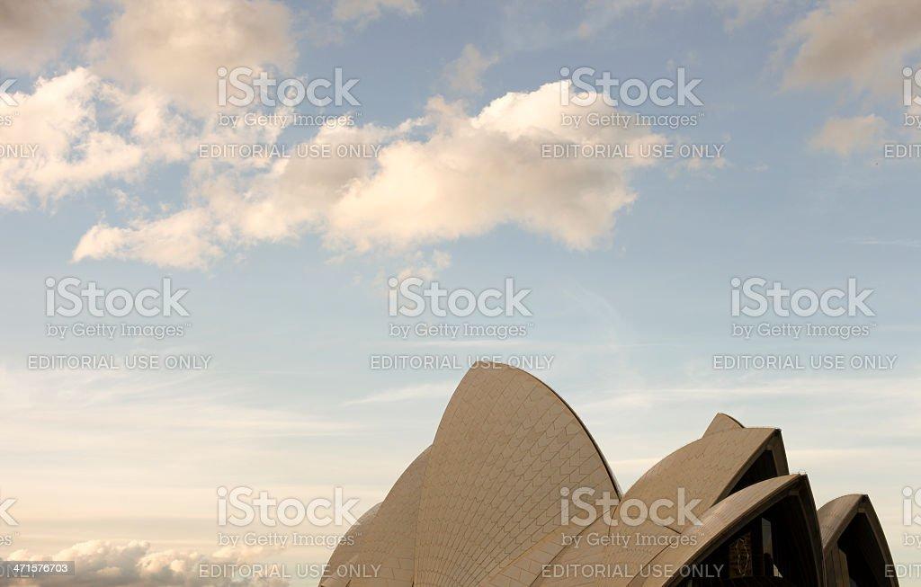 Sydney Opera House with sky royalty-free stock photo