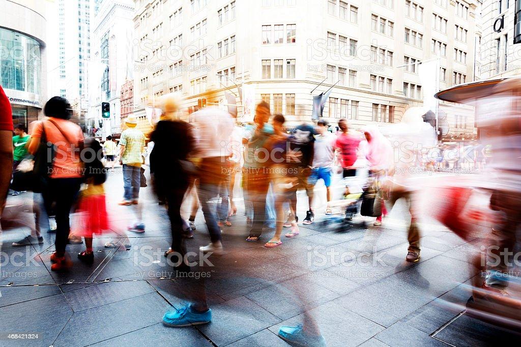Sydney, pedestrians on the street stock photo