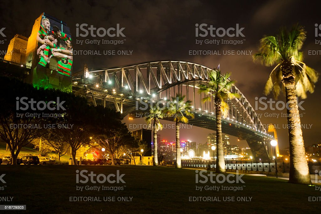 Sydney Rabbitohs Bridge stock photo