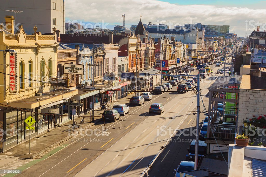 Sydney Road, Brunswick stock photo