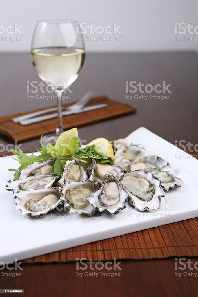 Sydney Rock Oysters royalty-free stock photo